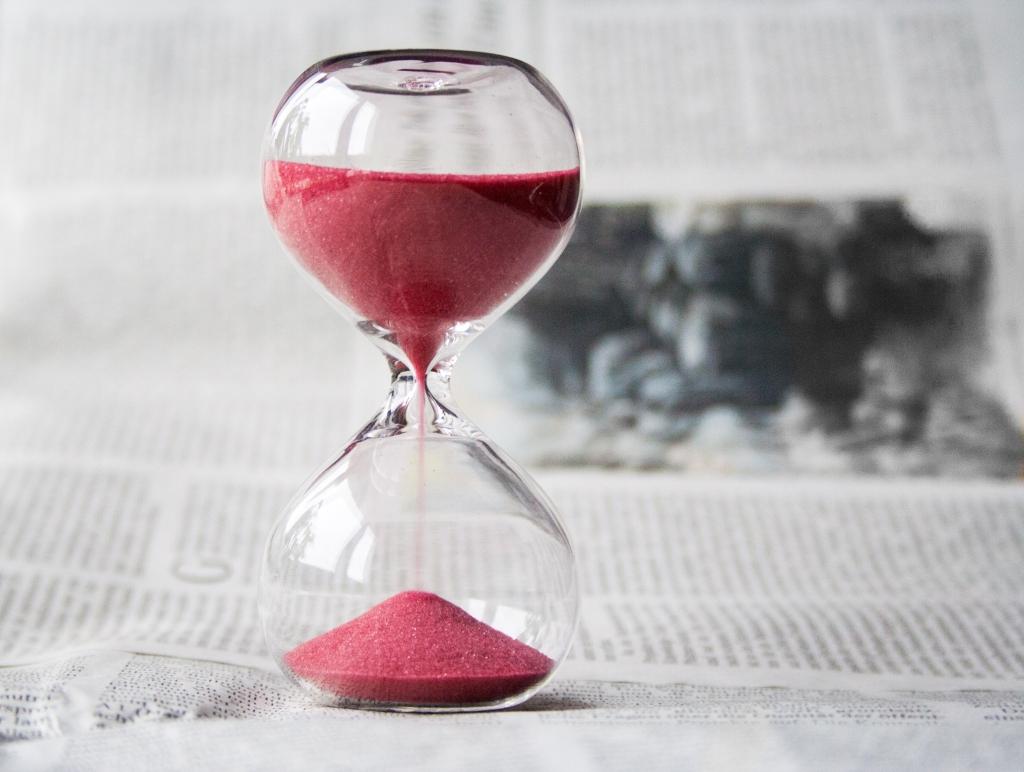 sablier glass temps time
